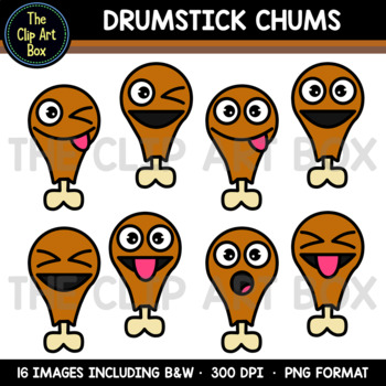 Thanksgiving Drumstick Chums - Clip Art