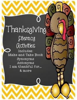 Thanksgiving ELA Activities