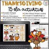 Thanksgiving ELA Activities   Distance Learning   Digital