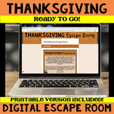 Thanksgiving ELA Digital Escape Room - Common Core Aligned