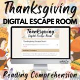 Thanksgiving ELA Digital Escape Room - Common Core Aligned
