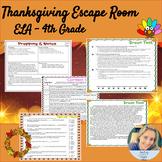 Thanksgiving ELA Escape Room - Context Clues, Homophones and Passages