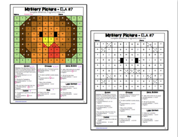 Thanksgiving ELA Mystery Puzzles 4th Grade Edition