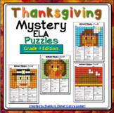 4th Grade Thanksgiving Color by Code ELA Mystery Pictures: