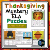 5th Grade Thanksgiving Color by Code ELA Mystery Pictures: