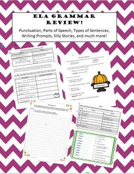 Thanksgiving ELA Review Bundle