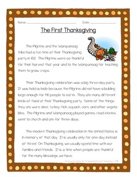 Thanksgiving. . . ELA Style {4 Delicious ELA Activities}