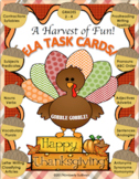 Fall Thanksgiving ELA TASK CARDS!  A Harvest of Fun!  Grades 2 - 4