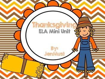 Thanksgiving ELA mini unit