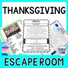 Thanksgiving ESCAPE ROOM- Holiday Fun- November- No Props Needed!