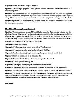 Thanksgiving ESL Lesson (Reader's Theater & more) - Intermediate/Advanced Levels