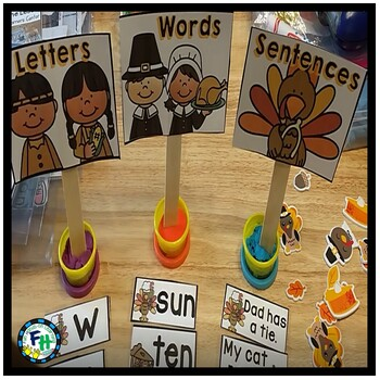 Thanksgiving Math & Literacy Activity Centers {BUNDLE}