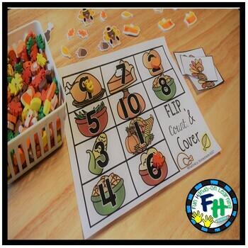 Thanksgiving Math & Literacy Centers For Kindergarten & First Grade {BUNDLE}