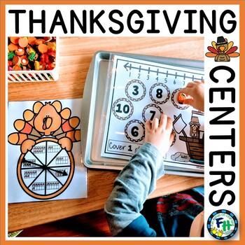 Kindergarten Math & Literacy Centers {Thanksgiving}