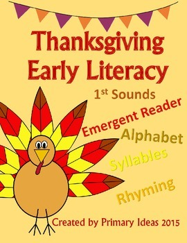 Thanksgiving Early Literacy Activities