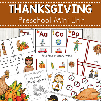 Thanksgiving Early Literacy Learning Pack
