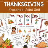 Thanksgiving Preschool Mini Unit Activities