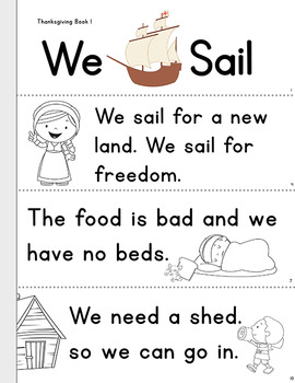 Thanksgiving Early Reader: We Sail