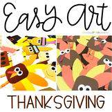 Thanksgiving Easy Art: Adapted Art and Writing Activities