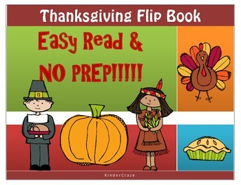 Thanksgiving Easy Read Flip Book- No Prep