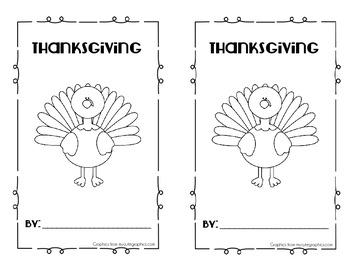 Thanksgiving Easy Reader Book