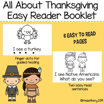 Thanksgiving Easy Reader Booklet