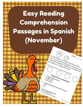 Easy Reading Comprehension Passages- Spanish (Dia de accio