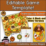 Thanksgiving Editable Game Template