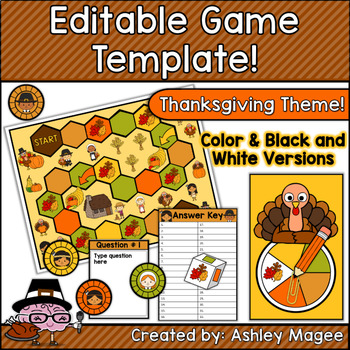 Thanksgiving Editable Game Template