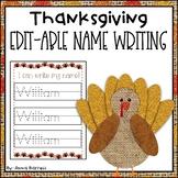 Thanksgiving Editable Name Writing Practice