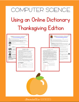 Thanksgiving Edition: Using an Online Dictionary