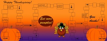 Thanksgiving Educational Learning Board Game Set for entire class