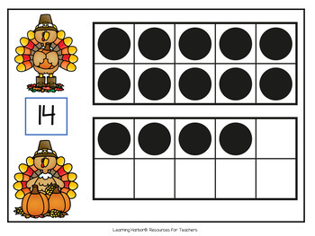Thanksgiving Eight Games For Teaching Teen Numbers