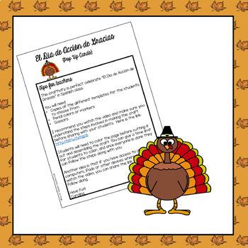Thanksgiving / El Día de Acción de Gracias {Craftivity}