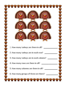 Thanksgiving Elementary Special Education Math Packet