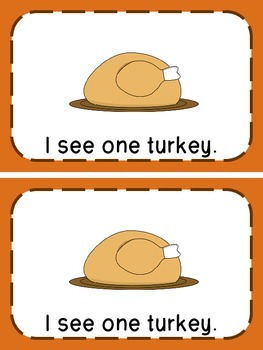 Thanksgiving Emergent Readers (3 Readers & Vocabulary Cards)
