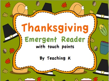 Thanksgiving Emergent Reader Book & Build a Sentence Packe