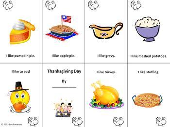Thanksgiving Emergent Reader Booklet 3 Designs