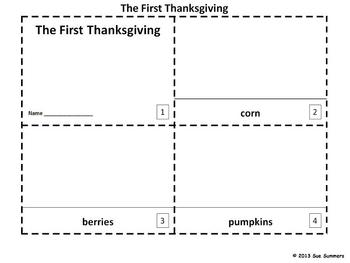 Thanksgiving Emergent Reader Booklets - The First Thanksgiving