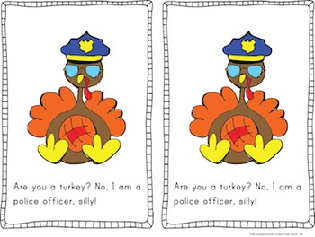 Thanksgiving Turkey Emergent Reader: I Am Not a Turkey, Silly!