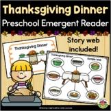 Thanksgiving Emergent Reader: Thanksgiving Dinner