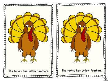 Thanksgiving Emergent Reader: Turkey Color Words