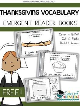 Thanksgiving Emergent Reader Vocabulary Books