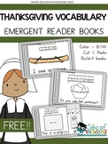 Thanksgiving Emergent Reader Vocabulary Books