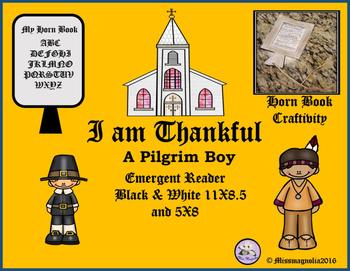Thanksgiving Emergent Reader and Hornbook Craftivity