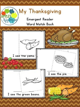 Thanksgiving Word Match Book