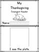 Thanksgiving Word Match Book