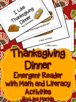 Thanksgiving Emergent Reader with Math and Literacy Activities