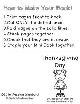 Thanksgiving {Emergent Readers}