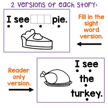Thanksgiving Emergent Readers